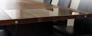 Tischschutz montiert