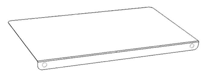 Tischkantenschutz aus transparentem Plexiglas