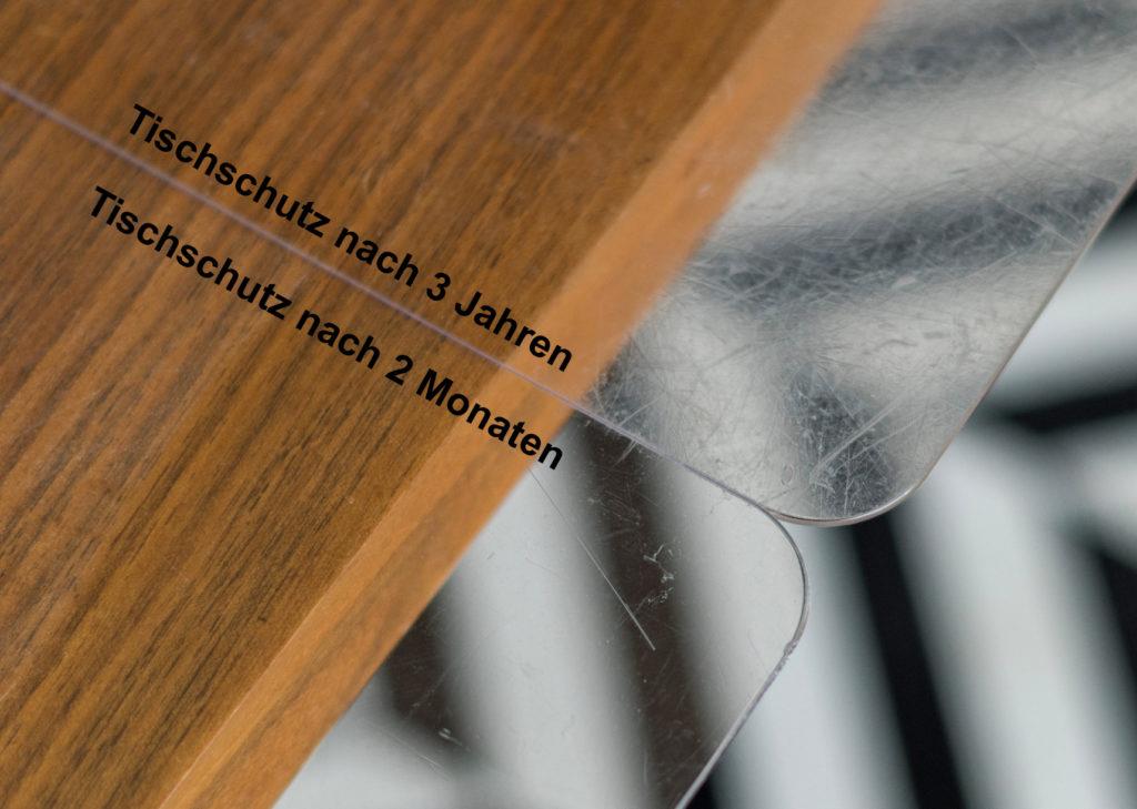 Tischschutz Vorher - Nachher